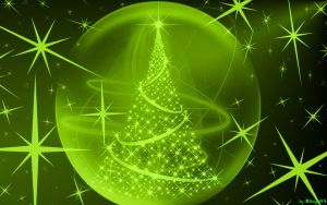 Christmas lights in green by Mango84