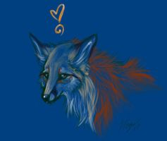 Blue Fox by CorvidaeArt