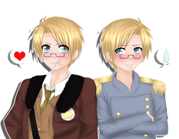 Aph:Alfred+Sam by SinfulHime