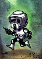 Scout Trooper Biker Scout card by geralddedios