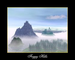 foggy hills by termkiller