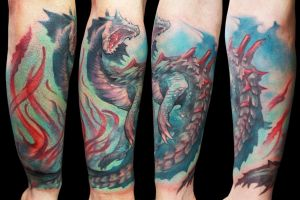 Dragon Agua by maximolutztattoo