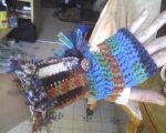 Peruvian Glove with button and tassel by MartianRaindrop42