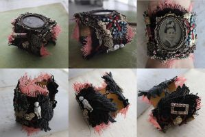 Victorian Assemblage Cuff by asunder