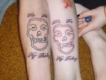 matching tattoos by evilanarchist666