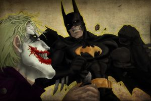 Batman vs Joker collabo by GEEnormous