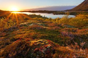 Vatnfjorden Sunset by Dave-Derbis