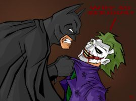 Batman vs Joker colour by darknight7