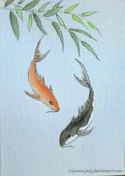 Chinese Koi ACEO by jacij