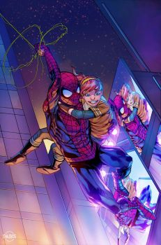 Spidey and April by ParisAlleyne