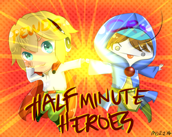 Half Minute Heroes w/ Pewds and Cry by nyxxeii