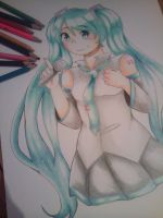 Hatsune Miku in Traditional by Gisii06