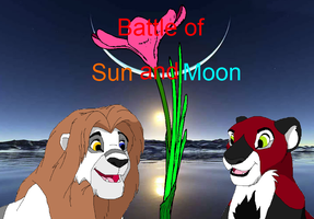 Battle Of Sun And Moon- Front Page by TheDemonAngelWolf