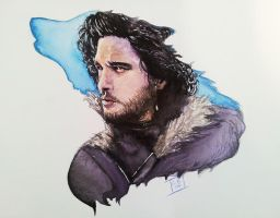 Jon Snow - Game of Thrones by LornaKelleherArt