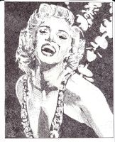 Marilyn Monroe Stipple by BathedInSin