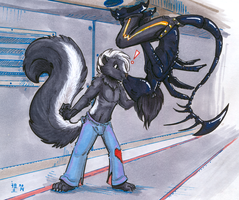 surprise skunk smooches by not-fun