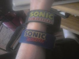 Sonic the Hedgehog Wristbands by sonicfan40