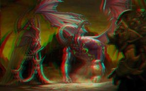 Devil 3D Relief Anaglyph Rouge Cyan by Fan2Relief3D