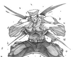 Guile. Joe Madureira tribute by JoseCarlos20