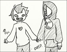 Kage and Zacharie by ChaoticPuppetMaster