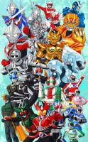 My Favorite TOKUSATSU heroes by browntabby