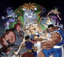 UDON STREET FIGHTER VS DARKSTALKERS fanart contest by Dreviator