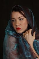 Laura in blue voile 2 by A68Stock