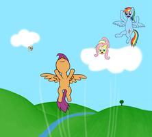 Learning to fly by scootadoo