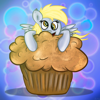 Derpy And Her Muffin by flamevulture17
