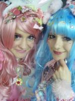 Blue and Pink by MissRana62