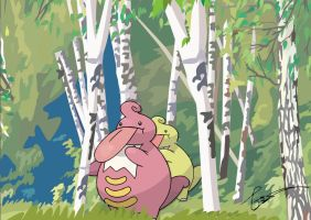Lickilicky's hide and seek by FraankBiebs