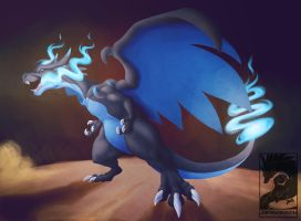 Mega Charizard X by Japandragon