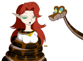 Kaa and Malon by kaafan33