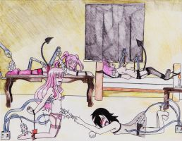 Commission- Pink and black go with everything 2# by princeofhalcyon