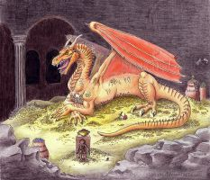 Smaug the magnificent by Strecno