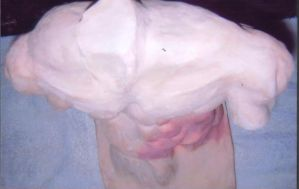 Fired-clay torso 2 by HCMP