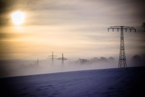 snow, sun and fog by DanielGliese