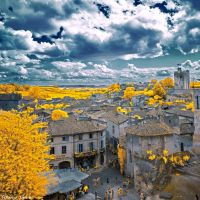 Saint-Emilion, France. Infrared. by ToneeGee