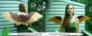 Felt Wings .:. Brown 3.5 ft by Kamakru