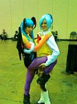Blue-Haired Succubi by onewingedjade