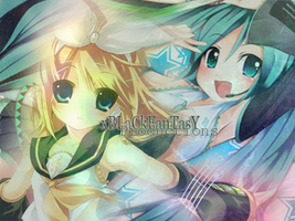 PS CS4 EDIT: RIN+MIKU MIX by anniecheng09