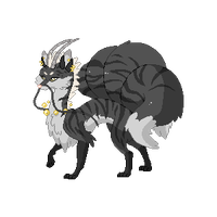 (Sold) Pixel Adoptable: Black Kyubi by MySweetQueen