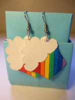 Rainbow Cupcake Earrings by Heyro0