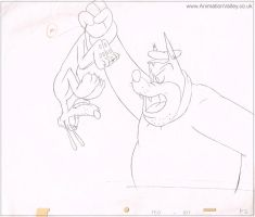 Original Hand Drawn Pluto Production Cel Drawing by AnimationValley