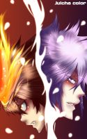 KHR:Tsuna and Byakuran by julcha97