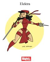 Mighty Marvel Month of March - Elektra by tyrannus