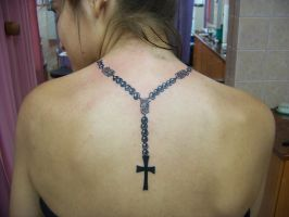 rosary beads tattoo by loop1974