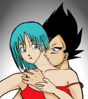 Vegeta and Bulma by yashy20c