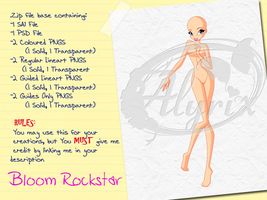 Bloom Rockstar - Paid Base Pack by EnchantingRainbow