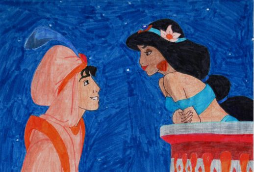 Aladdin and Jasmine by Chocolat93
